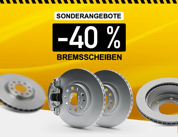 Bremsscheiben -40 %
